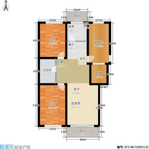上城俪园2室0厅1卫1厨97.35㎡户型图
