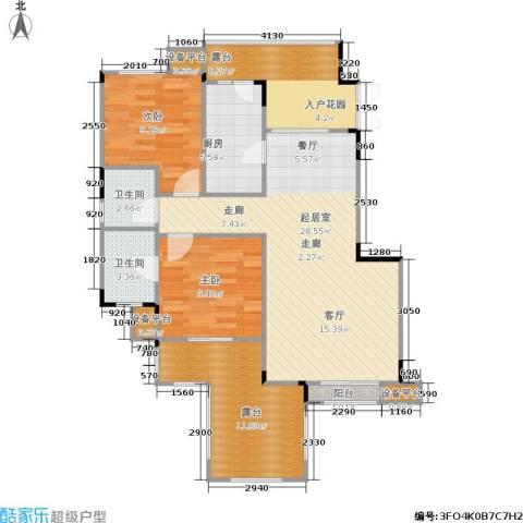 朗香郡 旭辉新里城 新里城2室0厅2卫1厨81.53㎡户型图