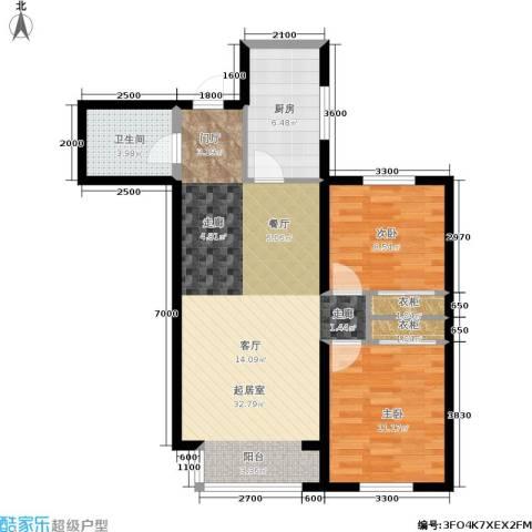 纳帕阳光2室0厅1卫1厨92.00㎡户型图