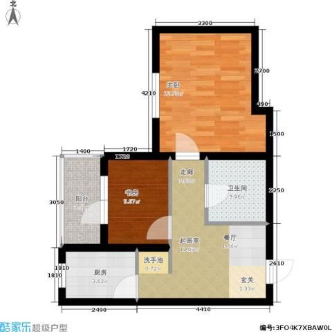 城建梦翔之家2室0厅1卫1厨60.00㎡户型图