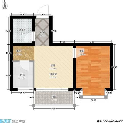 江山别院1室0厅1卫1厨53.00㎡户型图