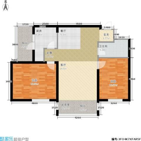城建梦翔之家2室0厅1卫1厨121.00㎡户型图