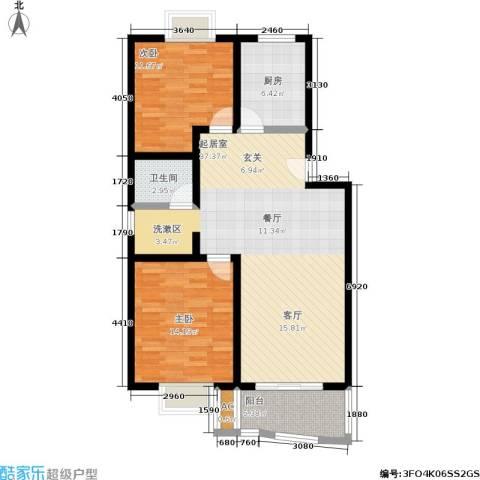 江城人家2室0厅1卫1厨90.00㎡户型图