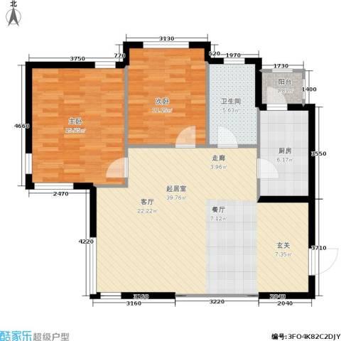 南石源居2室0厅1卫1厨110.00㎡户型图
