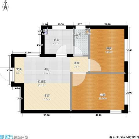 鑫丰又一城2室0厅1卫1厨56.00㎡户型图