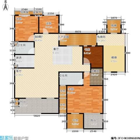 阳光新城三期4室1厅2卫0厨207.00㎡户型图