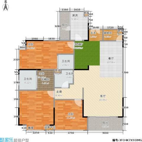 岳泰・理想城3室1厅3卫1厨168.00㎡户型图