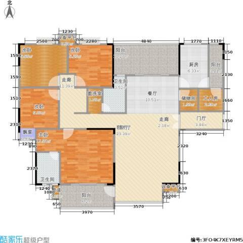 岳泰・理想城4室1厅2卫1厨164.00㎡户型图