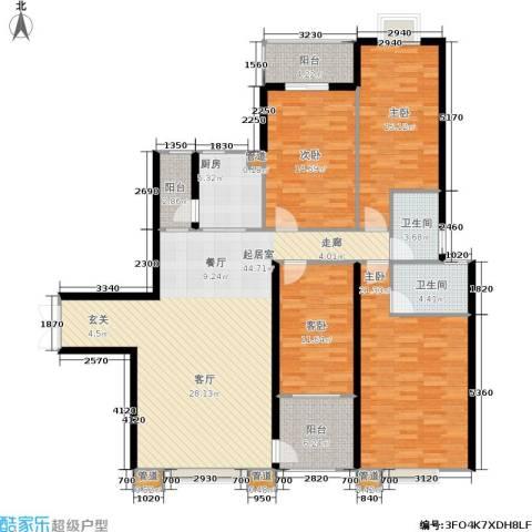 hello前城4室0厅2卫1厨152.00㎡户型图