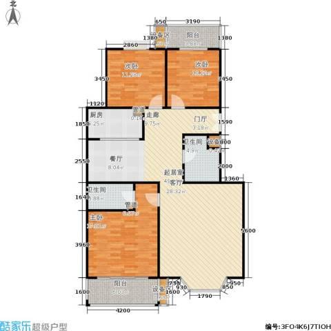 爱菊花园二期3室0厅2卫1厨120.00㎡户型图