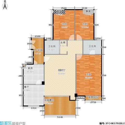 阳光新城三期3室1厅2卫1厨209.00㎡户型图