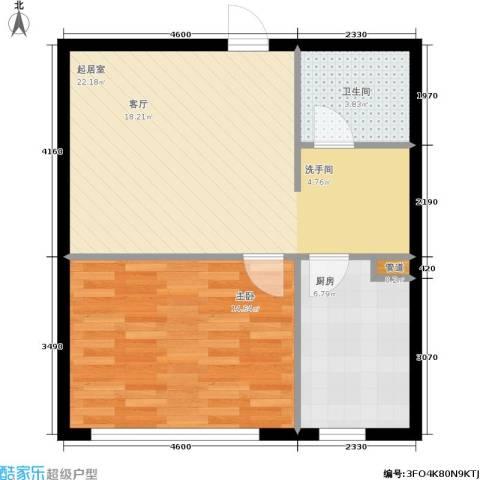 南石源居1室0厅1卫1厨53.00㎡户型图