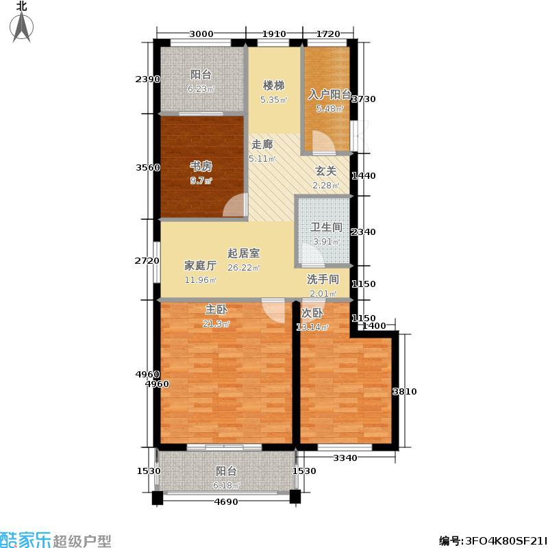 泉城花园户型3室1卫