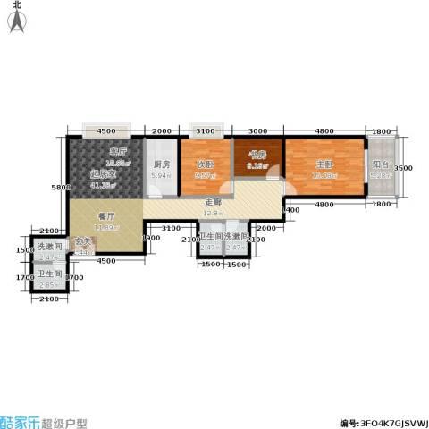 国际大都会四期3室0厅2卫1厨133.00㎡户型图