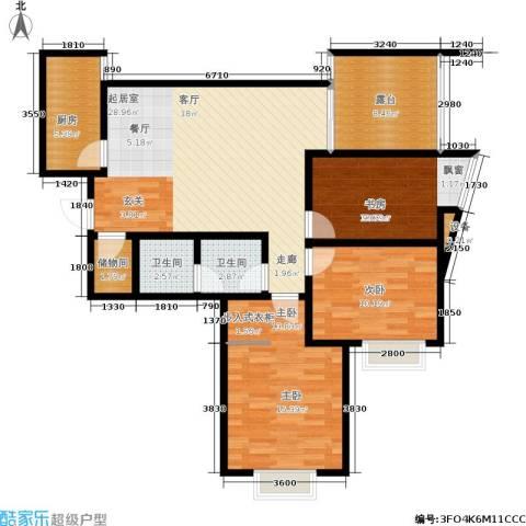 新界长安3室0厅2卫1厨108.00㎡户型图