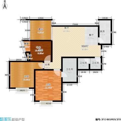 新界长安3室1厅3卫1厨122.00㎡户型图