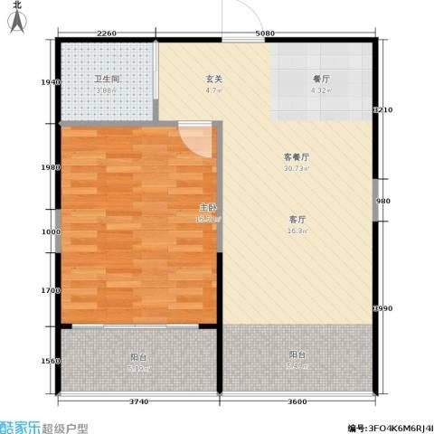 佳馨尊邸1室1厅1卫0厨60.00㎡户型图