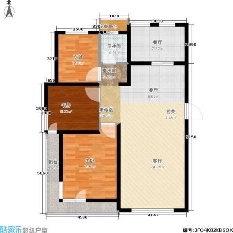 格林春晓3室1厅1卫0厨123.00㎡户型图