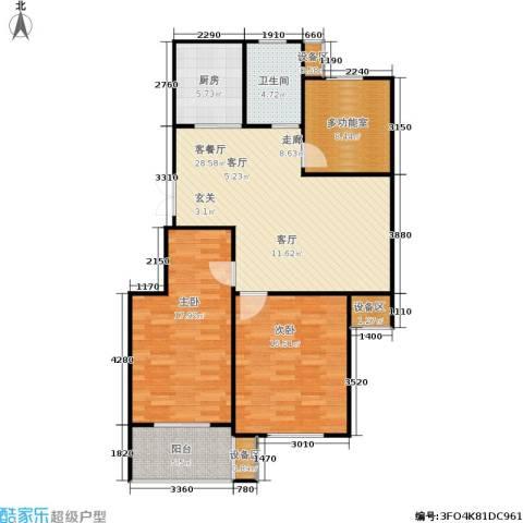 西城印象2室1厅1卫1厨97.00㎡户型图