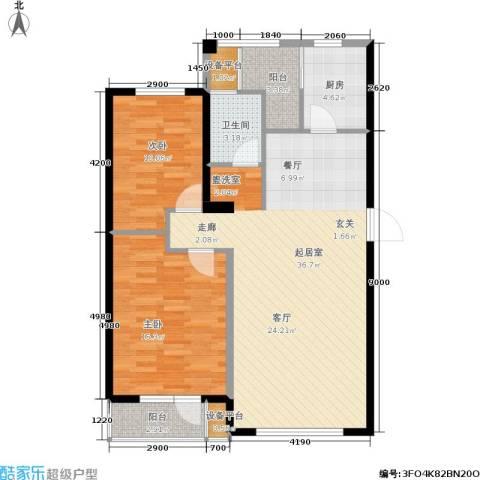 格林春晓2室0厅1卫1厨109.00㎡户型图