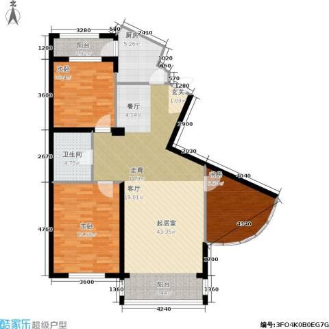 城建梦翔之家3室0厅1卫1厨110.00㎡户型图