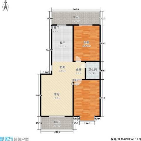 东秀苑2室1厅1卫0厨104.00㎡户型图