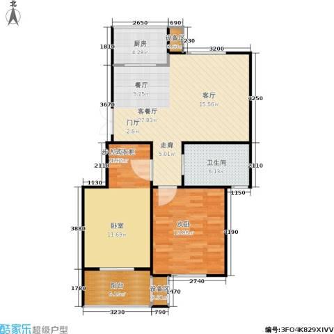 西城印象2室1厅1卫1厨85.00㎡户型图