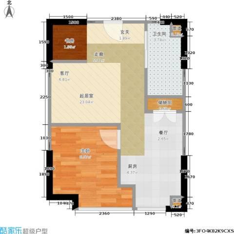 格林生活坊一期1室0厅1卫0厨51.00㎡户型图