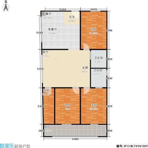 煜卫泽园4室1厅2卫0厨228.00㎡户型图