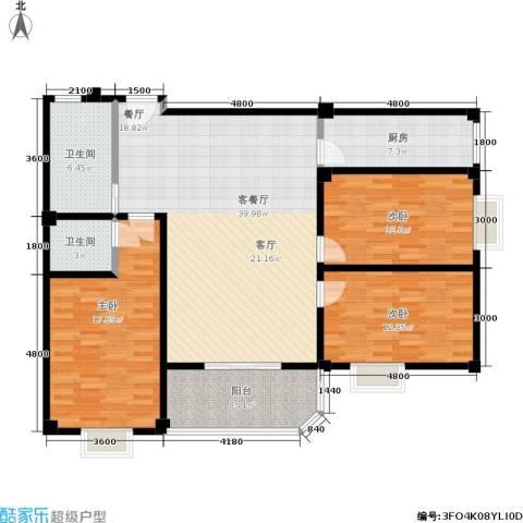 仁寿雅居3室1厅2卫1厨151.00㎡户型图
