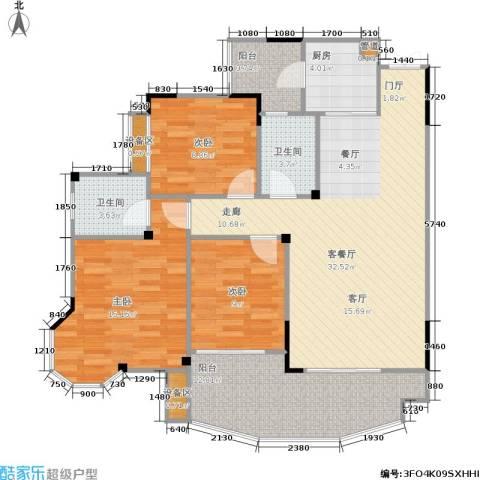 圣豪帝景3室1厅2卫1厨129.00㎡户型图