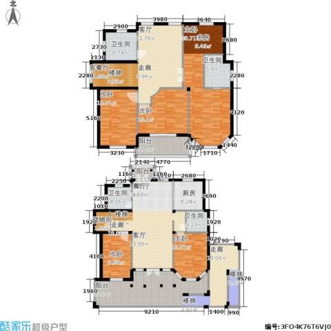 星海绿苑5室2厅4卫1厨245.00㎡户型图