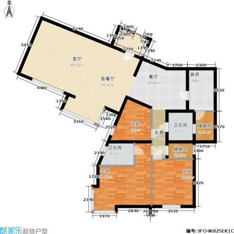 城建花园3室1厅2卫1厨177.00㎡户型图