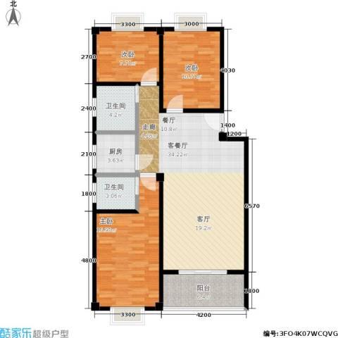 仁寿雅居3室1厅2卫1厨102.00㎡户型图