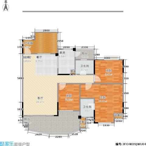 圣豪帝景3室1厅2卫1厨149.00㎡户型图