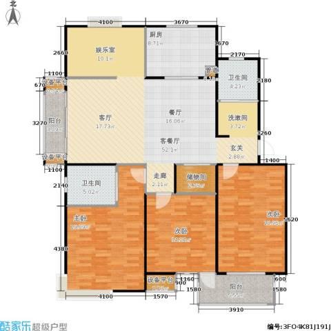 名园臻舍3室1厅2卫1厨147.00㎡户型图
