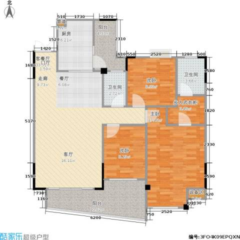 圣豪帝景3室1厅2卫1厨134.00㎡户型图
