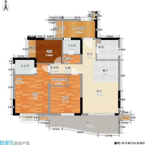 上海城二期3室0厅2卫1厨105.04㎡户型图