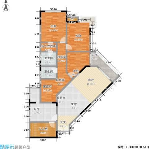 北部时代名居3室0厅2卫1厨133.71㎡户型图