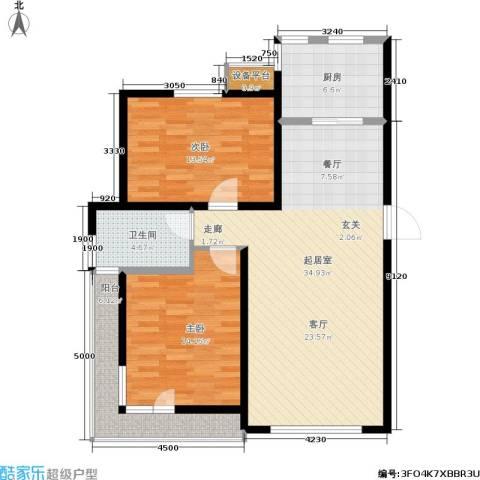 格林春晓2室0厅1卫1厨114.00㎡户型图