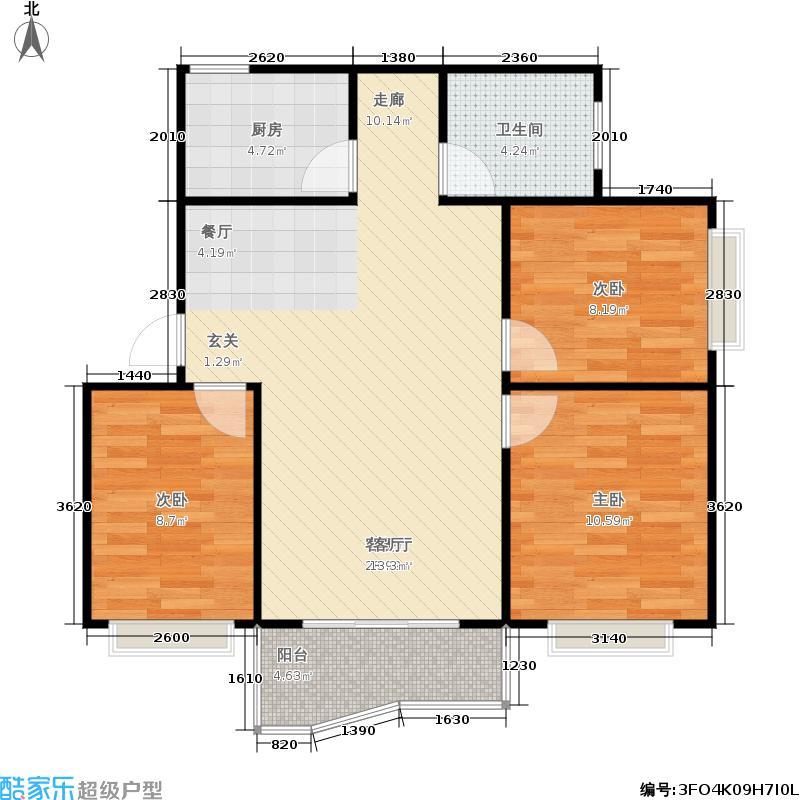 海德旭园户型3室1厅1卫1厨