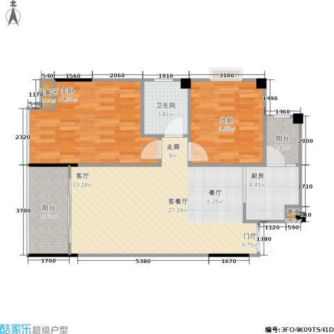 圣豪帝景2室1厅1卫1厨94.00㎡户型图