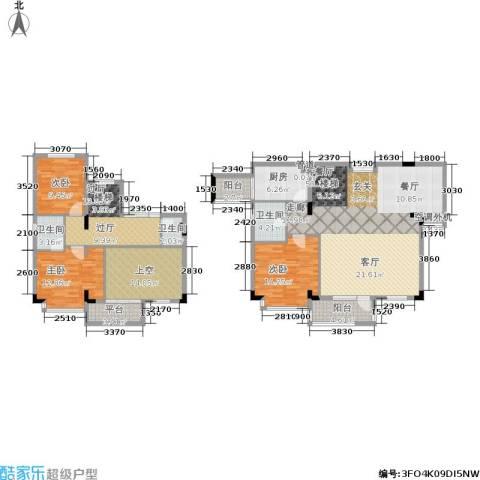 琉璃阳光3室1厅3卫1厨202.00㎡户型图