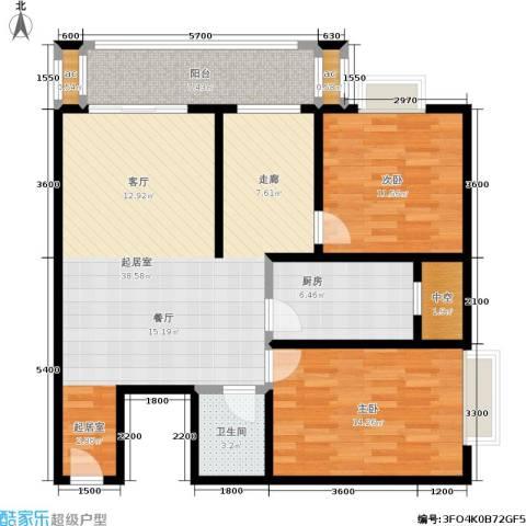 江枫雅居2室0厅1卫1厨89.00㎡户型图
