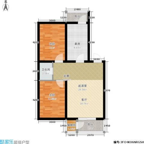 近水迎春园2室0厅1卫1厨77.19㎡户型图