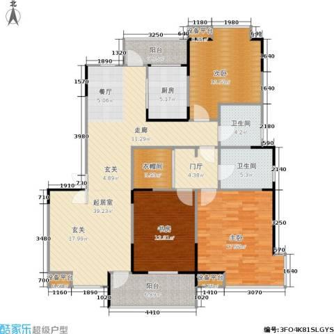 嘉业阳光城3室0厅2卫1厨127.00㎡户型图