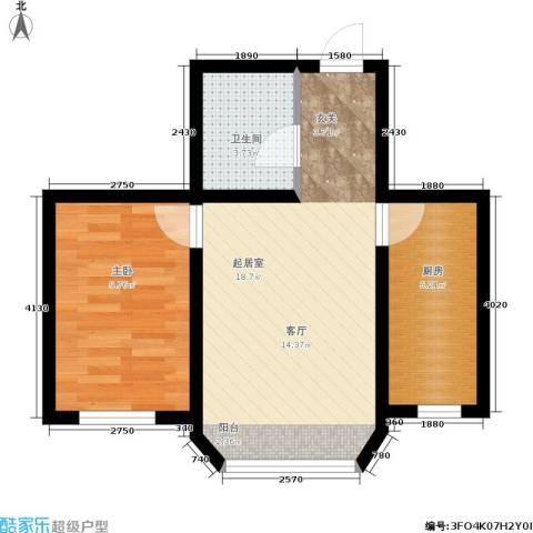 近水迎春园1室0厅1卫1厨44.56㎡户型图