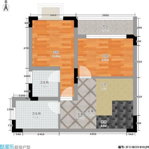 唐庄2室0厅2卫0厨67.00㎡户型图