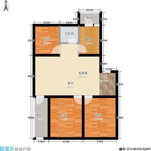 近水迎春园3室0厅1卫1厨85.15㎡户型图