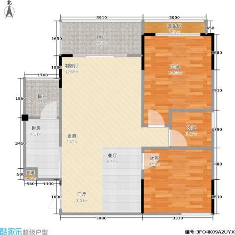 圣豪帝景3室1厅0卫1厨92.00㎡户型图